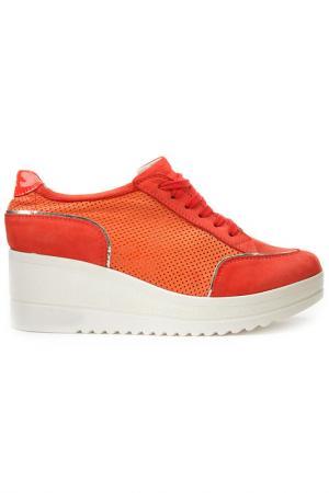 Туфли DERIMOD. Цвет: коралловый