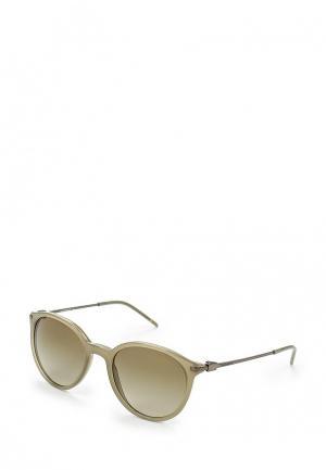 Очки солнцезащитные Emporio Armani. Цвет: зеленый