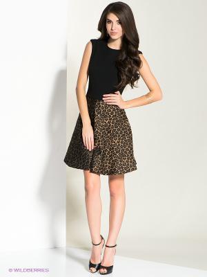 Платье MICHELLE WINDHEUSER. Цвет: черный, коричневый