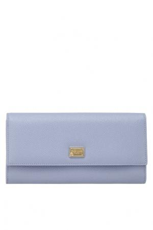 Кожаный кошелек Continental Dolce&Gabbana. Цвет: голубой