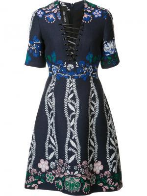 Жаккардовое платье Spring Field Yigal Azrouel. Цвет: чёрный