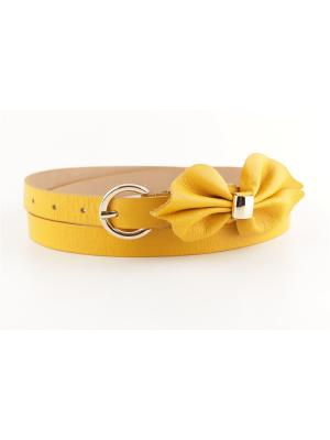 Ремень женский Sevaro. Цвет: желтый