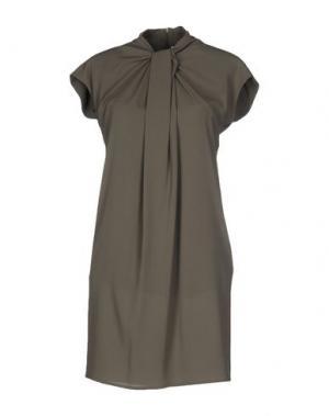 Короткое платье ANGELA MELE MILANO. Цвет: зеленый-милитари