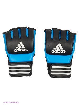 Митенки для смешанных единоборств Ultimate Fight Adidas. Цвет: синий, черный
