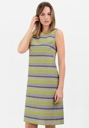 Платье Lino Russo. Цвет: зеленый