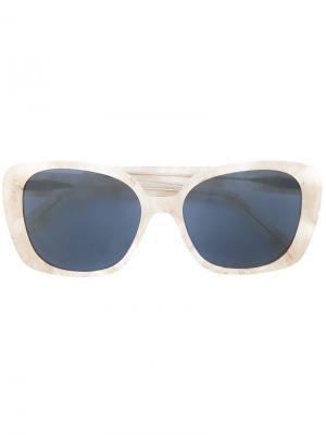 Солнцезащитные очки в квадратной оправе Prism. Цвет: серый