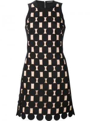 Платье с геометрическими панелями David Koma. Цвет: чёрный