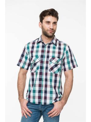Рубашка Westrenger. Цвет: зеленый, коричневый, красный