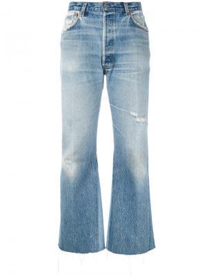 Укороченные джинсы с панельным дизайном Re/Done. Цвет: синий