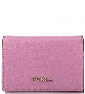 Кожаный кошелек с отделением для мелочи Furla. Цвет: сиреневый