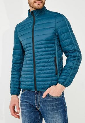 Куртка утепленная Liu Jo Uomo. Цвет: бирюзовый