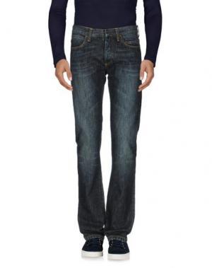 Джинсовые брюки RING. Цвет: синий