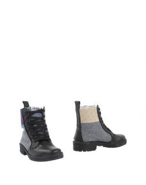 Полусапоги и высокие ботинки SPRINGA. Цвет: черный