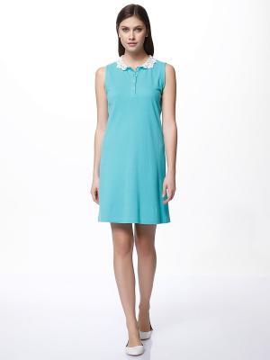 Платье RELAX MODE. Цвет: бирюзовый