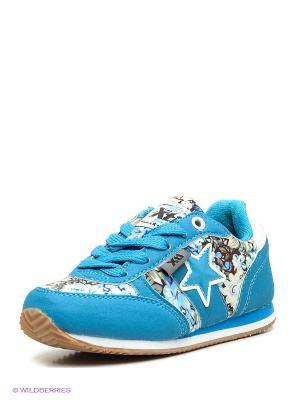 Кроссовки XTI. Цвет: голубой