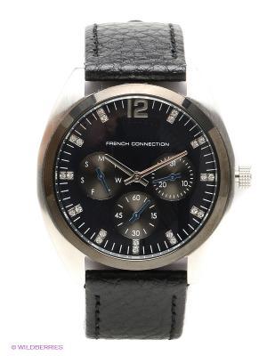 Часы FRENCH CONNECTION. Цвет: черный, темно-синий, серебристый