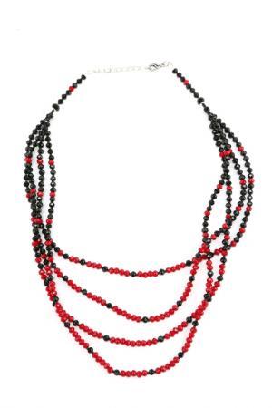 Колье Lascela. Цвет: черный, красный