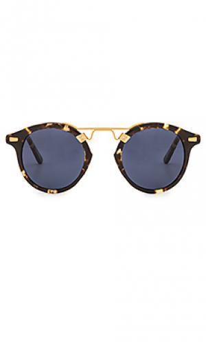 Солнцезащитные очки st. louis KREWE du optic. Цвет: коричневый