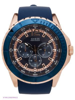 Часы GUESS. Цвет: синий, золотистый