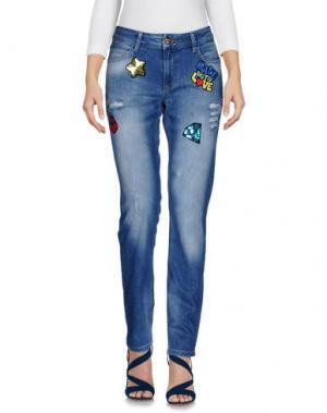 Джинсовые брюки MAISON ESPIN. Цвет: синий