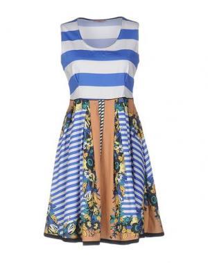 Короткое платье DV Roma. Цвет: синий