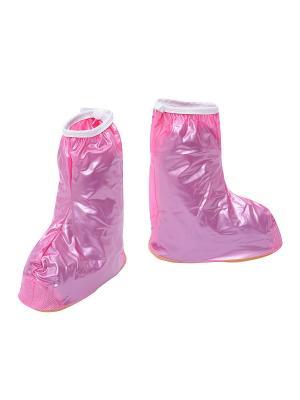 Детские дождевики для обуви, розовые Homsu. Цвет: розовый