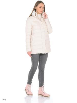 Куртка RISSKIO. Цвет: белый