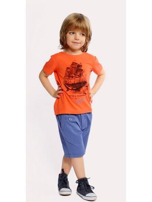 Футболка Gino de Luka. Цвет: оранжевый