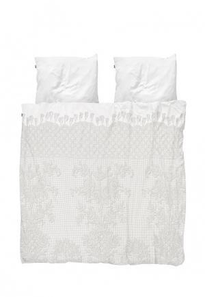 Комплект постельного белья 2 - спальный Snurk. Цвет: белый
