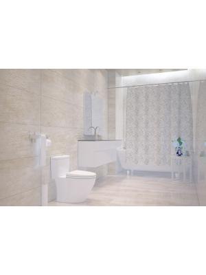Штора д/ванн 180х200 Dantelle сер. (шт.) Bacchetta. Цвет: светло-серый, белый