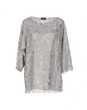 Блузка MALAICA. Цвет: серый