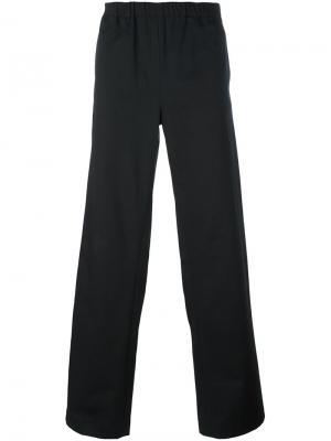 Свободные брюки с эластичным поясом Nicola Indelicato. Цвет: чёрный