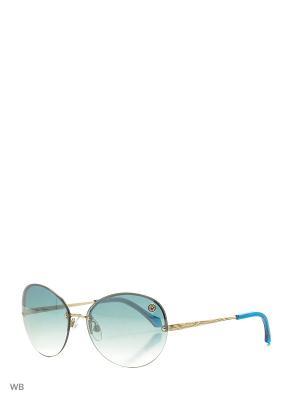 Солнцезащитные очки RC 782S 32W Roberto Cavalli. Цвет: голубой, золотистый