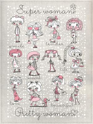 Полотенца Супер мама, 2 шт., с петелькой GrandStyle. Цвет: сиреневый, розовый, белый