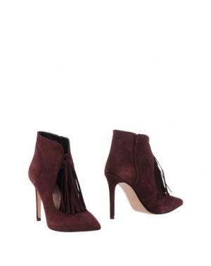 Полусапоги и высокие ботинки ANNA F.. Цвет: баклажанный
