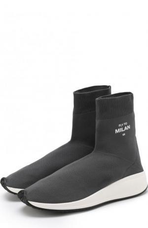 Текстильные кроссовки Fly To Milan Joshua Sanders. Цвет: серый