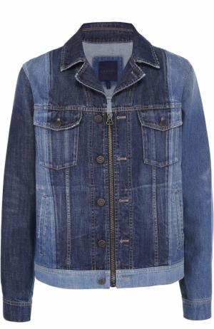 Джинсовая куртка на молнии с отложным воротником Lanvin. Цвет: синий