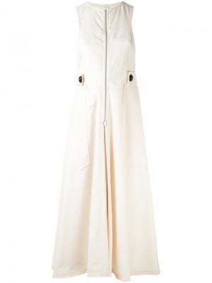 Платье на молнии с ремешком Lemaire. Цвет: телесный