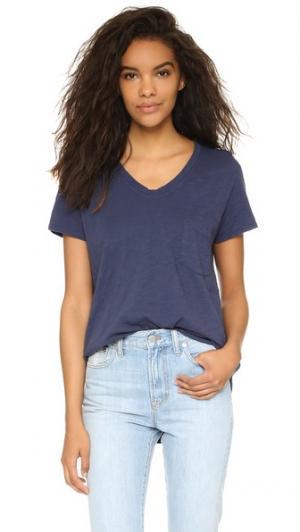 Винтажная футболка с V-образным вырезом Wilt. Цвет: авиаторы