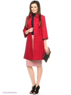 Пальто ZARINA. Цвет: красный