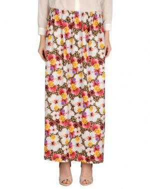 Длинная юбка JOE RIVETTO. Цвет: хаки