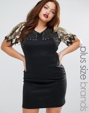 Praslin Платье с декорированным топом Plus. Цвет: черный