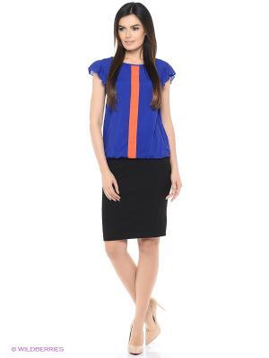 Блузка Yarmina. Цвет: синий