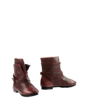 Полусапоги и высокие ботинки KUDETÀ. Цвет: красно-коричневый