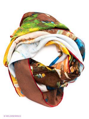 Платок Piero. Цвет: коричневый, желтый, зеленый, оранжевый, синий