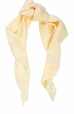 Хлопковый платок Gucci. Цвет: белый