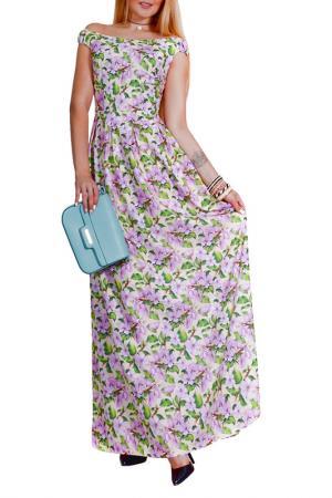 Платье Patricia B.. Цвет: бежевый, сиреневый, зеленый