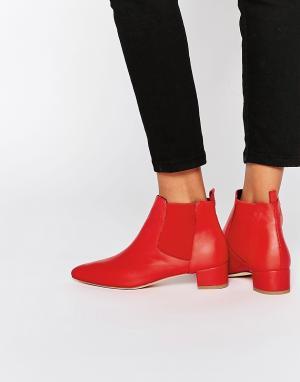 Miista Кожаные ботинки челси Beau. Цвет: красный