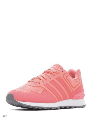 Кроссовки жен. 10K CASUAL W  RAYPNK/RAYPNK/FTWWHT Adidas. Цвет: розовый