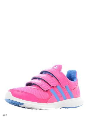 Кроссовки дет. спорт. hyperfast 2.0 cf k  SHOPIN/RAYBLU/FTWWHT Adidas. Цвет: фуксия, голубой